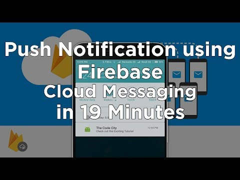 Sending Push Notifications to Android app using Firebase Cloud Messaging - Tutorial