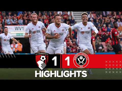 Bournemouth 1-1 Blades - match action