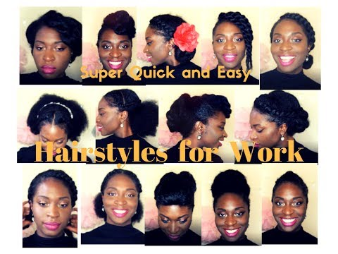 20 Super Quick And Easy Hairstyles For Work Natural Hair 4abc