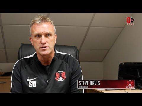 PREVIEW: Head Coach Steve Davis ahead of the O's National League fixture at Aldershot Town