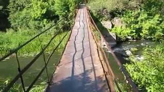 Подвесной мост через Ведугу.