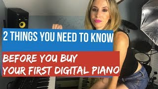 Piano lesson: How to choose your first Digital Piano, Hammer action and Sustain Pedal review