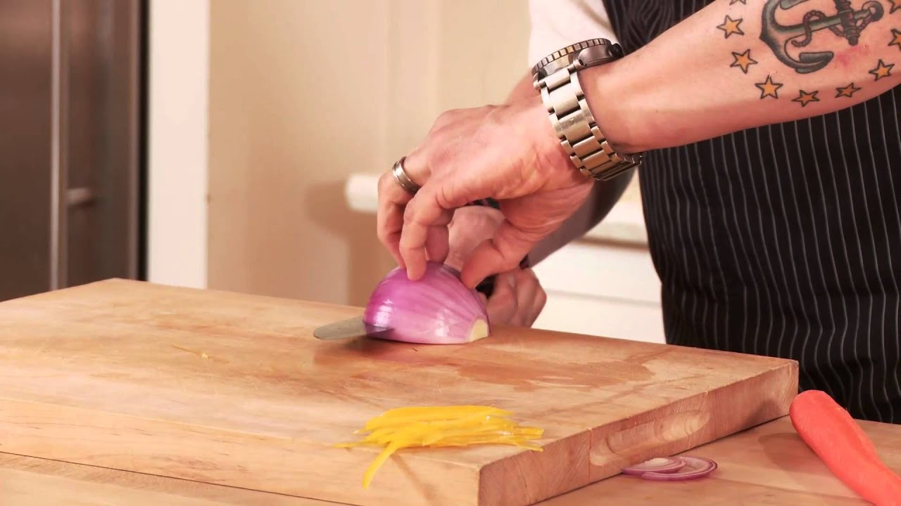 Chris Cosentino How To Use The Shun Hiro Santoku Knife
