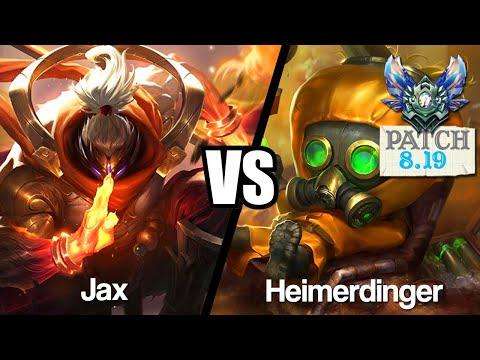 Vidéo d'Alderiate : [FR] JAX VS HEIMERDINGER - UN MATCHUP COMPLIQUE - 8.19 - DIAMANT 1