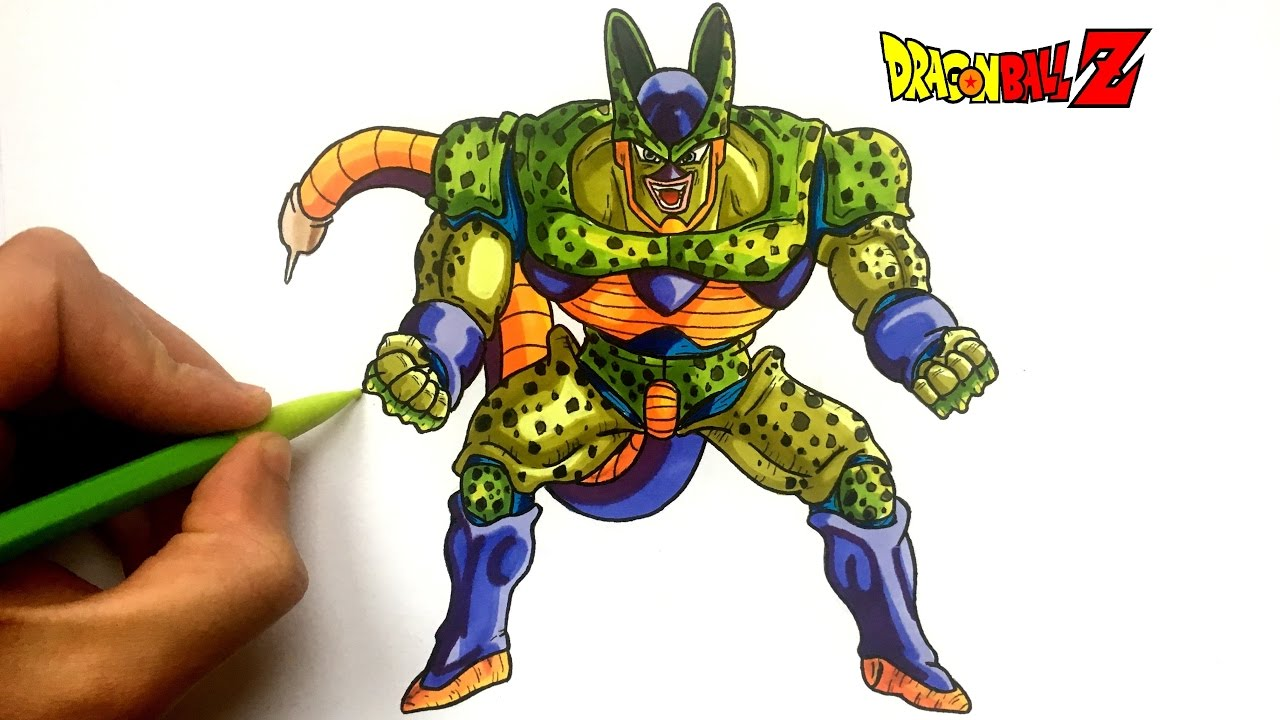 Dessin Cell Forme 2 Dbz Youtube