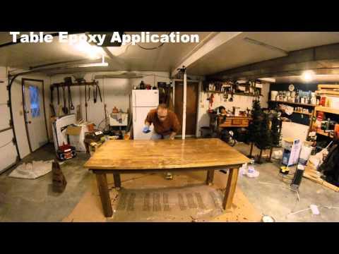 Epoxy on Farmhouse table