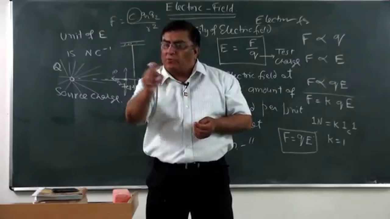 Xii 1 08 pradeep kshetrapal physics 2014 electric field introduction youtube