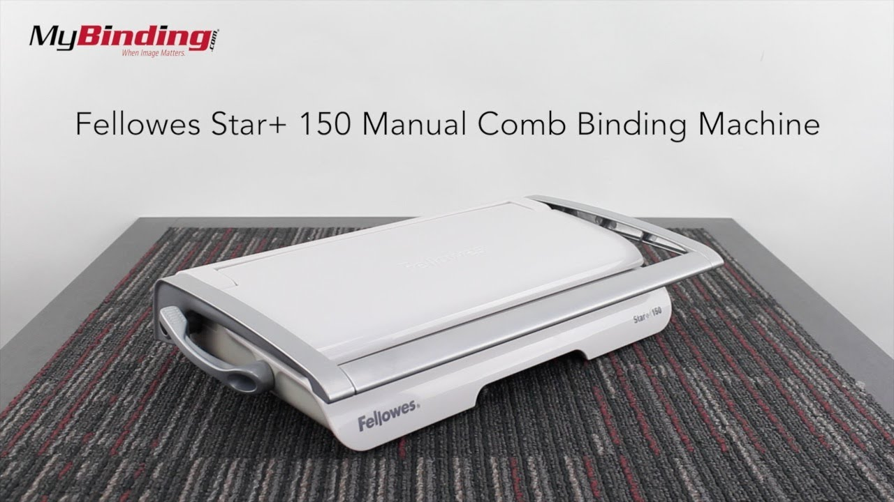 Fellowes Star+ 150 Manual Comb Binding Machine - YouTube