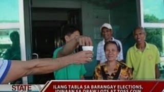 SONA: Ilang tabla sa barangay elections, idinaan sa draw lots at toss coin