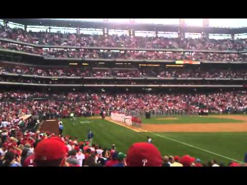 2011 NLDS Game 1 Phillies Lineup Introductions