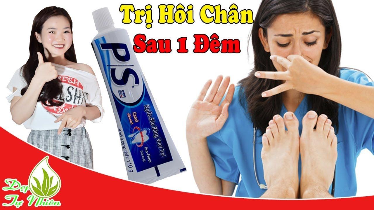 Trị Hết Sạch HÔI CHÂN KINH NIÊN Sau 1 ĐÊM, Nhờ Kem Đánh Răng/Đẹp Tự Nhiên