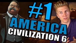 Civilization 6: Gameplay America [Let's Play USA 100+ Turns in Civ 6] Part 1
