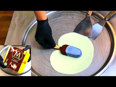 MAGNUM Ice Cream Rolls | how to make a Magnum Classic popsicle with chocolate to Ice Cream Rolls
