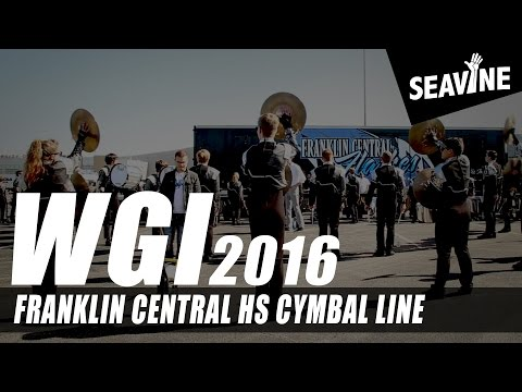Franklin Central High School Cymbal Line 2016- In the Lot with Seavine
