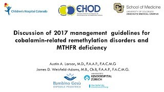 Guidelines for Diagnosis and Management of the Cobalamin-Related Disorders & Severe MTHFR