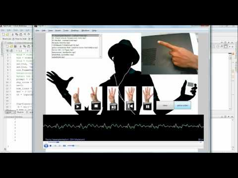 hand gesture controlled music player in mat lab