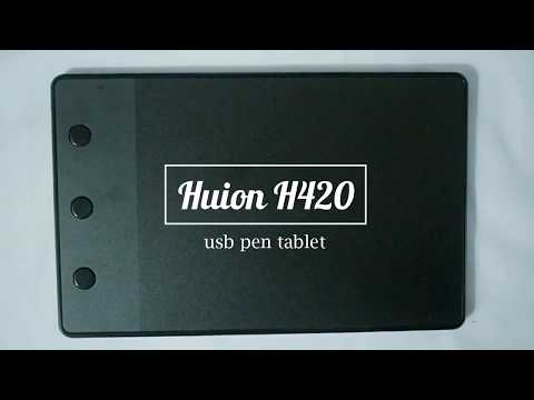 HUION H420 PEN TABLET REVIEW + SETTING (INDONESIA)