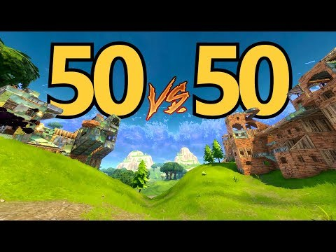 Most Epic 50 vs 50 Win! (Fortnite Battle Royale) Gameplay