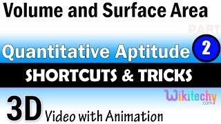Volume and surface area 2 aptitudetest questions and answers with solutions online videos lectures