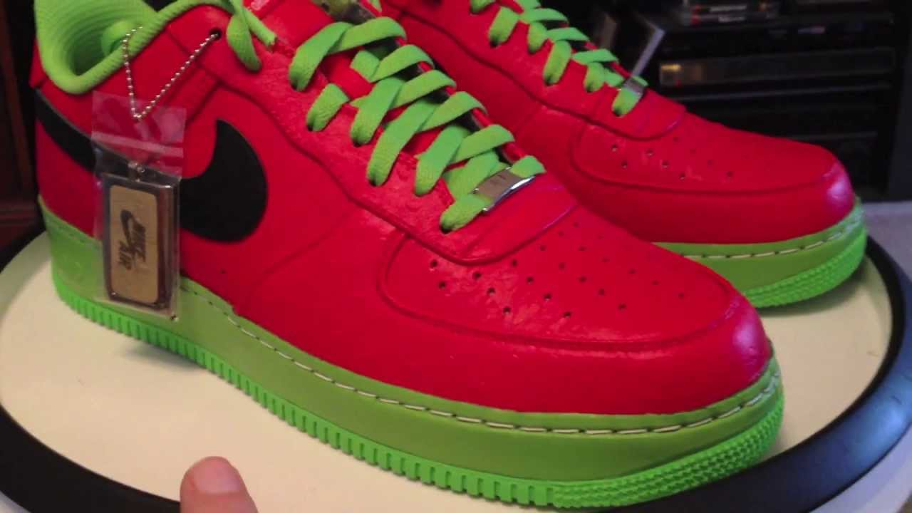 air force ones red