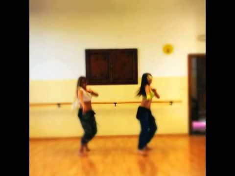 Dancing and having fun in the studio: Martina Tellini & Julia Torgonska. Camerawoman -Jalila:-)