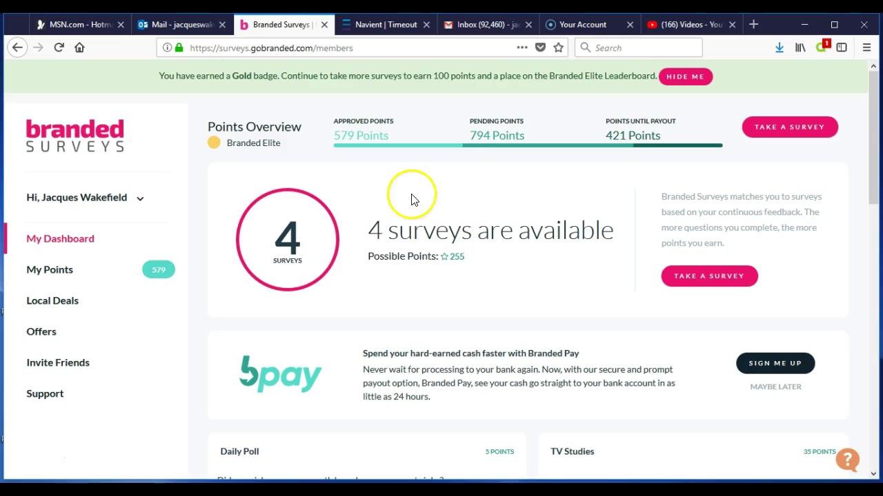 Branded Surveys Easy Money Online Through Paypal - YouTube