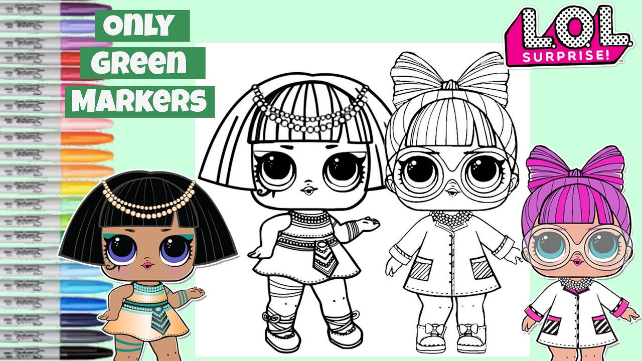 - LOL Surprise Dolls Makeover Only GREEN Markers LOL Surprise