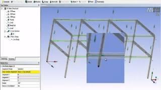 Видеоурок CADFEM VL1233 - Создание сеток оболочечно стержневых систем в ANSYS DesignModeler