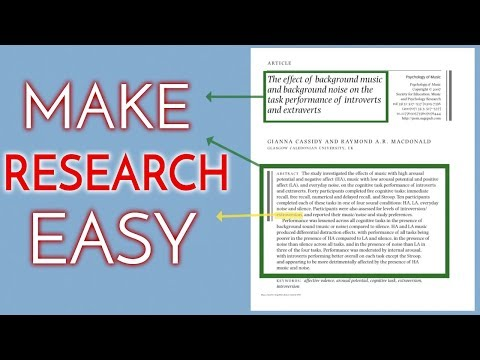 How To Make Research Easy (& Even Enjoyable)
