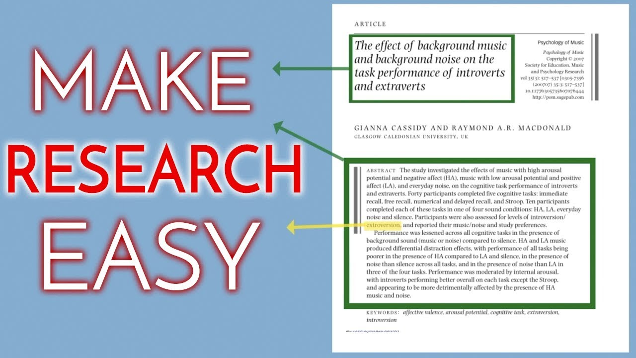 articles and research papers