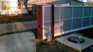 Самодельные откатные ворота(Откатные ворота-это просто! На предлагаемом видео-моя собственная работа. Причем сделанная без начальных..., 2010-11-12T13:14:56.000Z)
