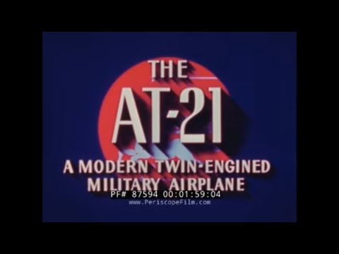 FAIRCHILD AT-21 GUNNER BOMBER CREW TRAINER PROMOTIONAL FILM