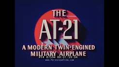 FAIRCHILD AT-21 GUNNER BOMBER CREW TRAINER PROMOTIONAL FILM 87594