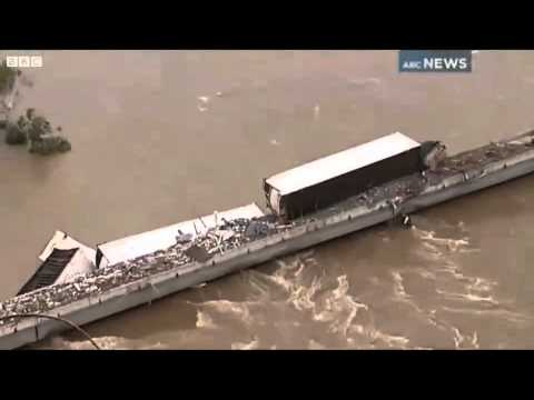 Train Derailed by Flood: Carrying Hazardous Chemicals