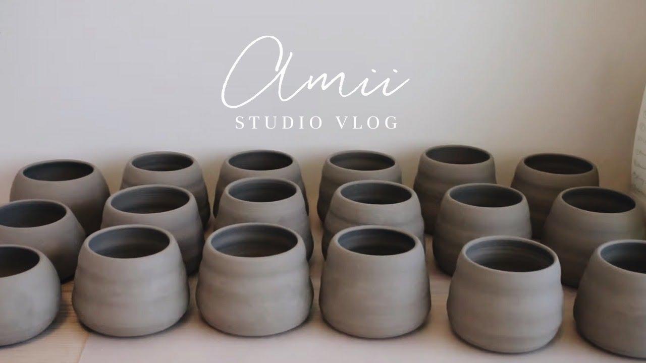 Studio Vlog | Tips on trimming pots & building shelf for balcony | Silent Vlog