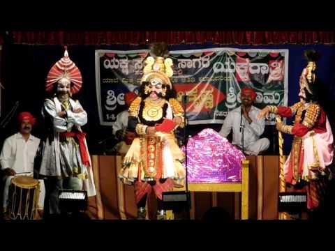 Yakshagana 2016-Haasya 02-Sri Ramesh Bhandari as Daaruka: Sri Hillur Sri Bhandari Sri Malya ***** Sri Yaaji as Arjuna Sri Nagaraj Bhandari as Bheema @sagar