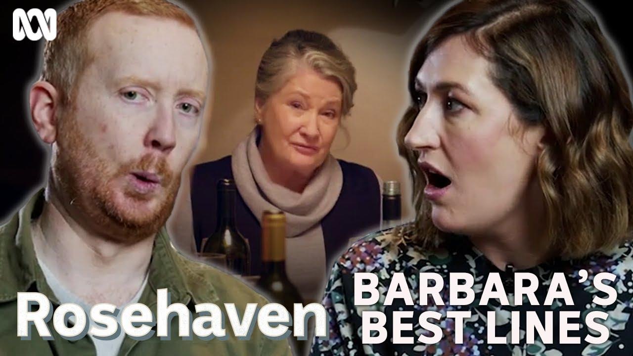Download Luke McGregor and Celia Paquola's favourite Barbara zingers from Rosehaven   Rosehaven