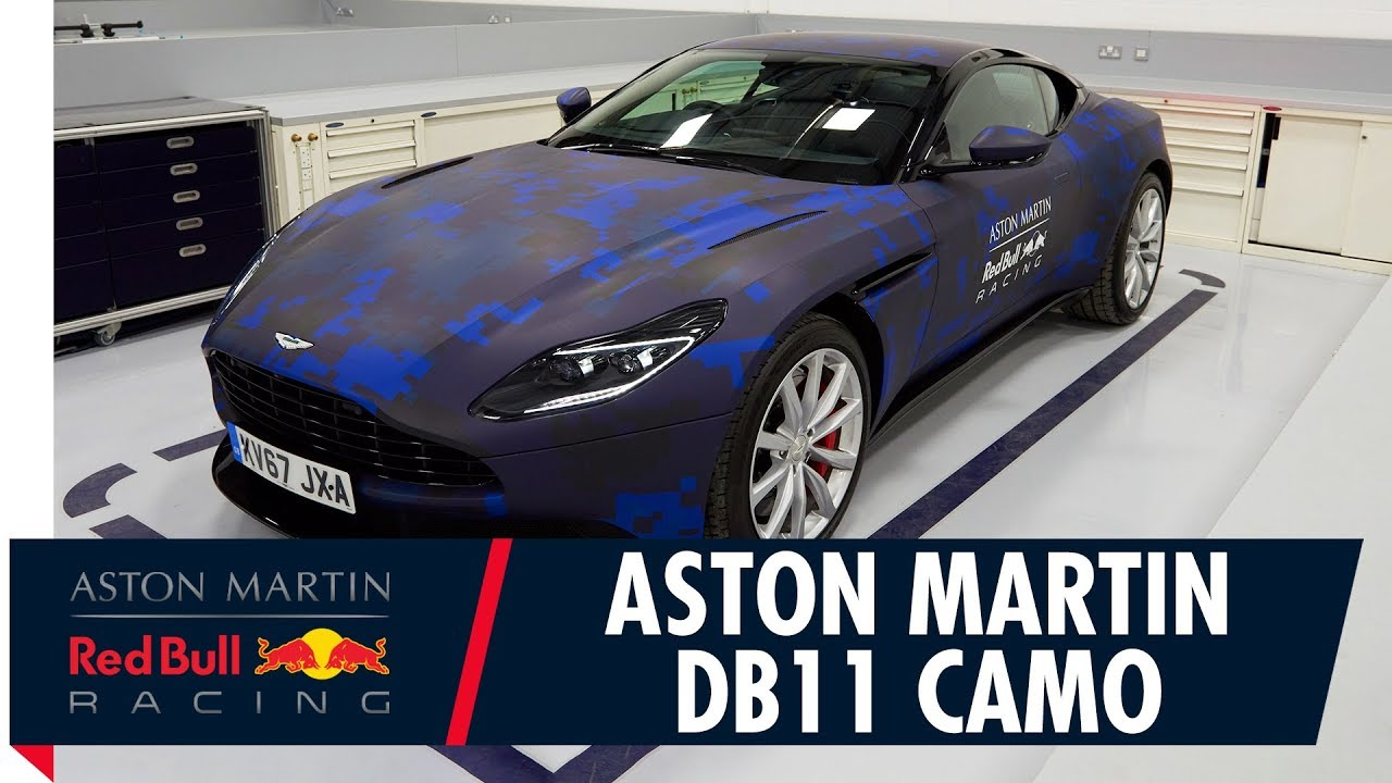 aston martin db11 gets a red bull racing wrap youtube. Black Bedroom Furniture Sets. Home Design Ideas