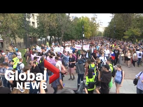 Russian opposition marches in Moscow