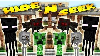 Minecraft School - MORPH MOD HIDE AND SEEK - Baby Monster School ( Modded Minigame)