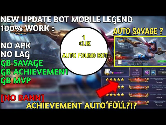 ????NEW UPDATE???? MOBILE LEGEND BOT APK? VPN AUTO BOT 100% WORK [NO BAN & NO ROOT]