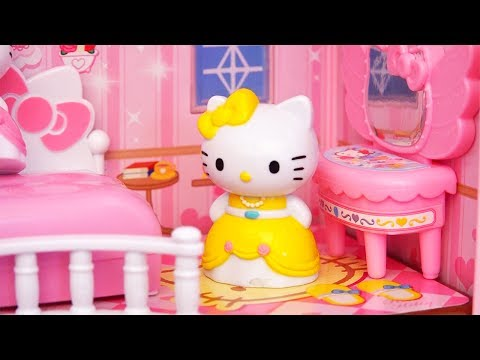 Kids Toys - Hello Kitty Princess Light Up Dollhouse - Kitty & Mimi Find a Special Friend
