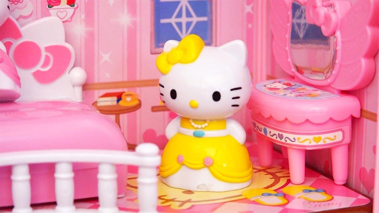 Kids toys hello kitty princess light up dollhouse - Princesse hello kitty ...
