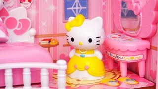 Light Up Dollhouse  Toys and Dolls Fun Playing with Hello Kitty Princesses  SWTAD
