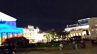 . Москва. Театральная площадь ко дню Российского флага. 23 августа 2019 г.
