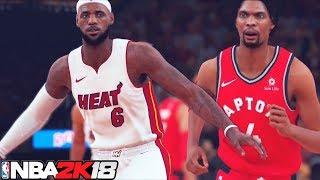 NBA 2K18 HD Raw Gameplay: All Time Heat vs. All Time Raptors