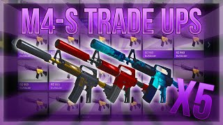 HIGH TIER M4A1-S TRADE UPS (5 M4'S IN A ROW) streaming