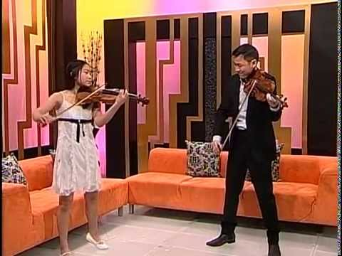 Wieniawski Etude Caprice No. 1: Conrad Chow and his student Tiffany Yeung (age 12)