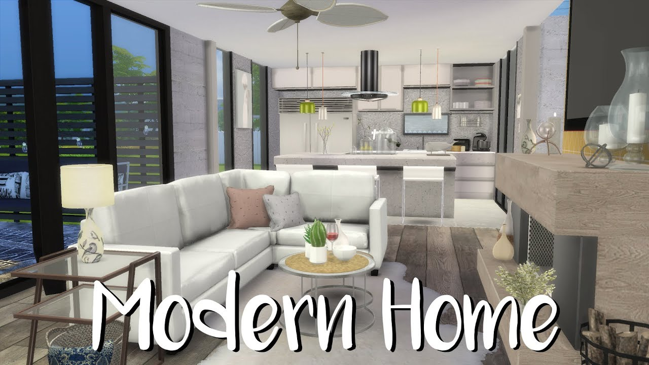 The Sims 4 Speed Build Modern Home Cc List Youtube