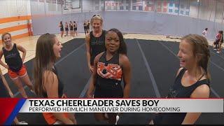 Rockwall cheerleader saves choking toddler